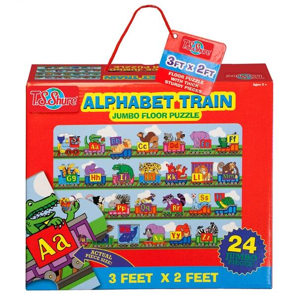 TS Shure Alphabet Train Jumbo Floor Puzzle