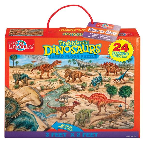 TS Shure Prehistoric Dinosaurs Jumbo Floor Puzzle