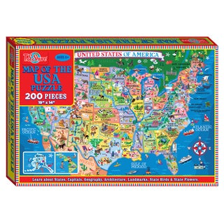 TS Shure 200 Piece Map of the U.S.A. Jigsaw Puzzle