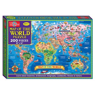 TS Shure 200 Piece Map of the World Jigsaw Puzzle