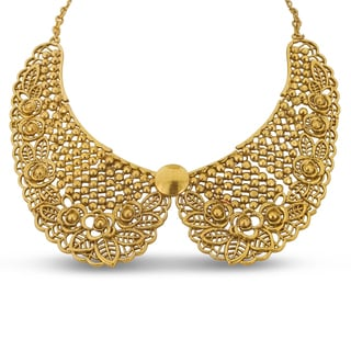 Adoriana Ornate Gold Collar Necklace