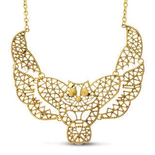 Adoriana Gold Owl Bib Necklace