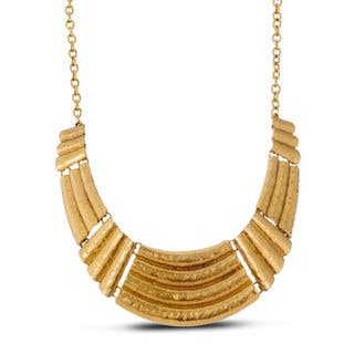 Adoriana Gold Over Brass Gladiator Bib Necklace|https://ak1.ostkcdn.com/images/products/11858983/P18759151.jpg?impolicy=medium