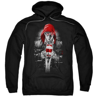 Superman/Earth One Adult Pull-Over Hoodie in Black