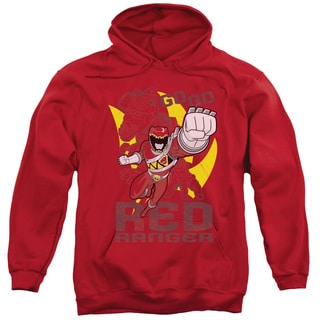 Power Rangers/Go Red Adult Pull-Over Hoodie in Red