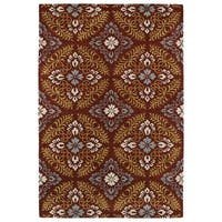 Hand-Tufted Seldon Red Floral Rug - 9' x 12'