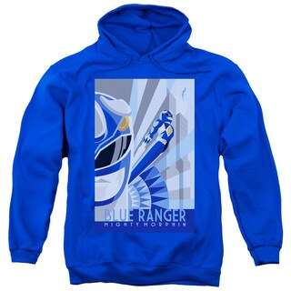 Power Rangers/Blue Ranger Deco Adult Pull-Over Hoodie in Royal Blue
