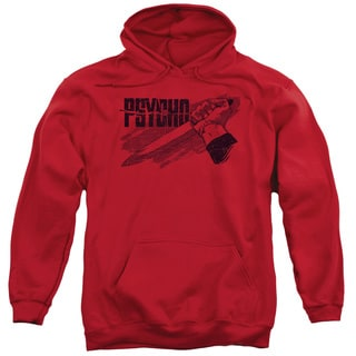 Psycho/Knife Adult Pull-Over Hoodie in Red