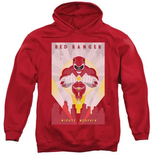 Power Rangers/Red Deco Adult Pull-Over Hoodie in Red