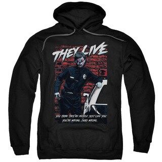 They Live/Dead Wrong Adult Pull-Over Hoodie in Black