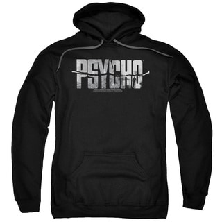 Psycho/Logo Cutout Adult Pull-Over Hoodie in Black