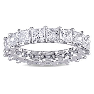 Miadora Signature Collection Platinum 4ct TDW IGI Certified Princess-cut Diamond Stackable Eternity