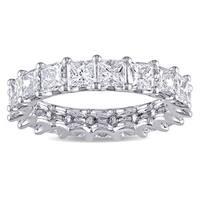 Miadora Signature Collection Platinum 4ct TDW IGI Certified Princess-cut Diamond Stackable Eternity
