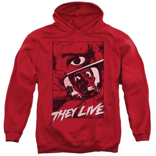 They Live/Graphic Poster Adult Pull-Over Hoodie in Red
