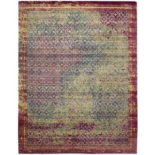 Nourison Silken Grandeur Multicolor/Green Rug (8'6 x 11'6)