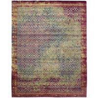 Nourison Silken Grandeur Multicolor/Green Rug - 8'6 x 11'6