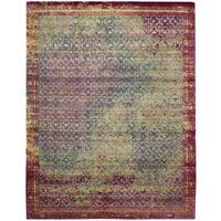 Nourison Silken Grandeur Multicolor/Green Rug - 7'9 x 9'9