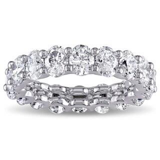 Miadora Signature Collection 18k White Gold 3 3/5ct TDW IGI Ceritifed Oval-cut Diamond Stackable Ete