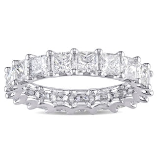Miadora Signature Collection Platinum 3 1/4ct TDW IGI Certified Princess-cut Diamond Stackable Etern