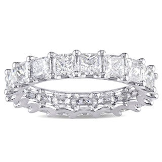 Miadora Signature Collection Platinum 3 1/4ct TDW IGI Certified Princess-cut Diamond Stackable Eternity Ring (G-H, VS2-SI1)