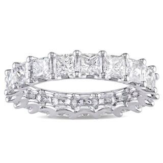 Miadora Signature Collection Platinum 3 1/4ct TDW IGI Certified Princess-cut Diamond Stackable Etern