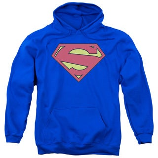 Superman/New 52 Shield Adult Pull-Over Hoodie in Royal Blue