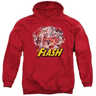 JLA/Flash Family Adult Pull-Over Hoodie in Red