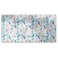 Winter Flowers and Snowflakes Rectangle Tablecloth