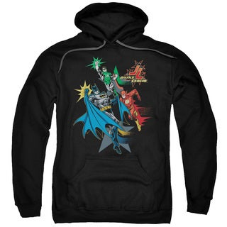 JLA/Action Stars Adult Pull-Over Hoodie in Black