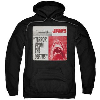 Jaws/Terror Adult Pull-Over Hoodie in Black