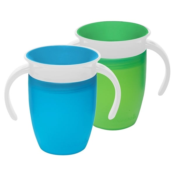 Munchkin Miracle 360 Trainer Plastic 7-ounce Spoutless Cups Set