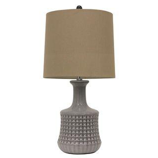 Quarry Transitional Grey Ceramic 1-light Multi-directional Table Lamp