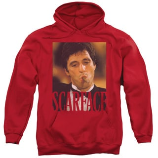 Scarface/Smoking Cigar Adult Pull-Over Hoodie in Red