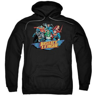 JLA/Ready To Fight Adult Pull-Over Hoodie in Black