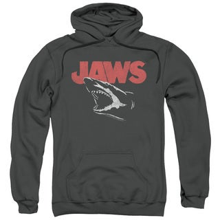 Jaws/Cracked Jaw Adult Pull-Over Hoodie in Charcoal