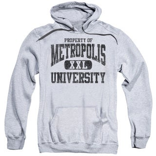 Superman/Property Of Mu Adult Pull-Over Hoodie in Athletic Heather