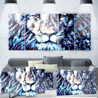 Designart 'Leader of the Pack' Lion Metal Wall Art
