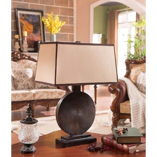 K&B Espresso Table Lamps (Set of 2)