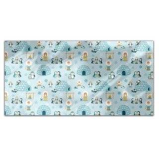 Snowland Family Rectangle Tablecloth