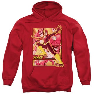 JLA/Flash Adult Pull-Over Hoodie in Red