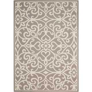 Nourison Linear Silver/Ivory Rug (8' x 11')