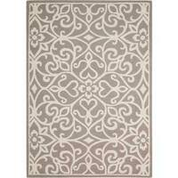 Nourison Linear Silver/Ivory Rug - 8' x 11'