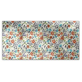 Folklore Flowers On Vases Rectangle Tablecloth