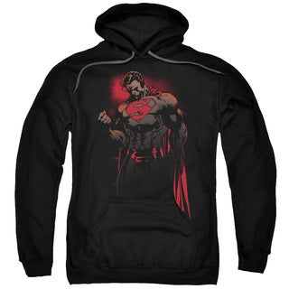 Superman/Red Son Adult Pull-Over Hoodie in Black