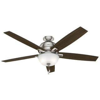 Good Hunter Donegan Collection 60 Inch Brushed Nickel Fan With Reversible Blades    Silver