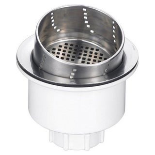 Blanco Silver Stainless-steel 3.5-inch x 3.5-inch x 3-inch 3-in-1 Basket Strainer