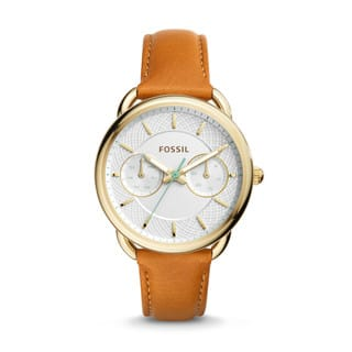 Fossil Women's ES4006 Tailor Multi-Function White Dial Brown Leather Watch|https://ak1.ostkcdn.com/images/products/11860021/P18760115.jpg?impolicy=medium
