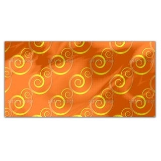 Curly Gold Rectangle Tablecloth