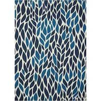 Nourison Home and Garden Blue Rug (7'9 x 10'10)