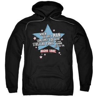 Nacho Libre/Stetchy Pants Adult Pull-Over Hoodie in Black